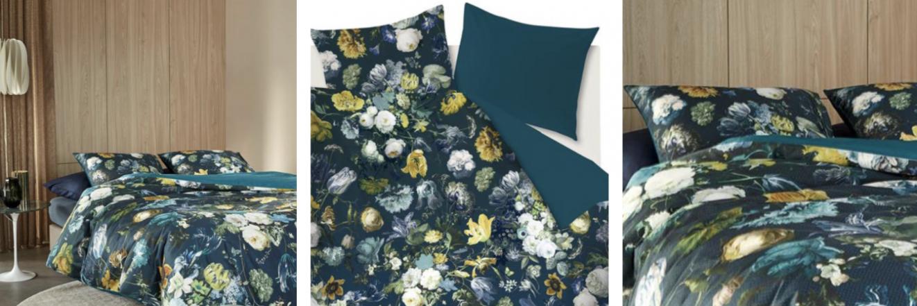 Luxe dekbedovertrek bloemen